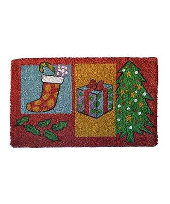 Red & Green Christmas Gift Doormat