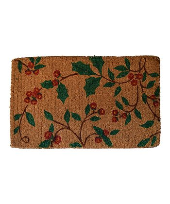 Red & Green Holly Princess Doormat