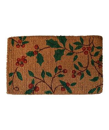 Red & Green Holly Princess Doormat