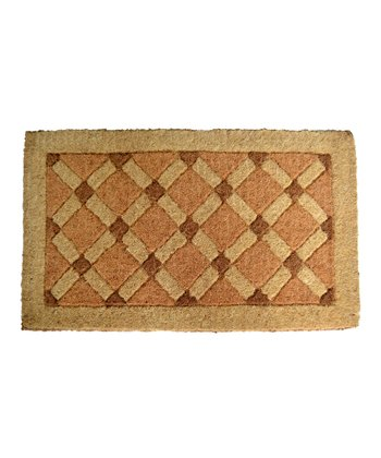 Brown Cross Board Doormat