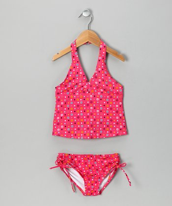 Pink Monkey Tankini - Girls
