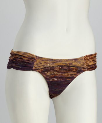 Purple Golden Mine Low-Rise Bikini Bottoms