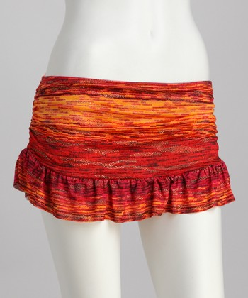 Orange Golden Mine Skirted Bikini Bottoms