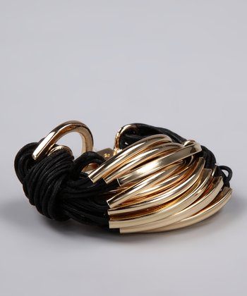 Black & Gold String Bracelet