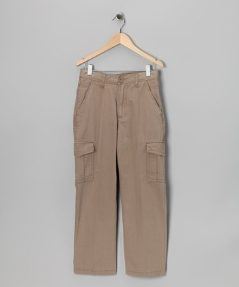 Indigo Star Dark Khaki Commando Cargo Pants - Boys