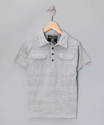 Gray Warlock Polo - Boys