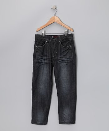 Dark Sandblast Jeans - Girls