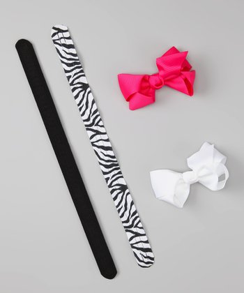 Black Zebra Ribbon Set