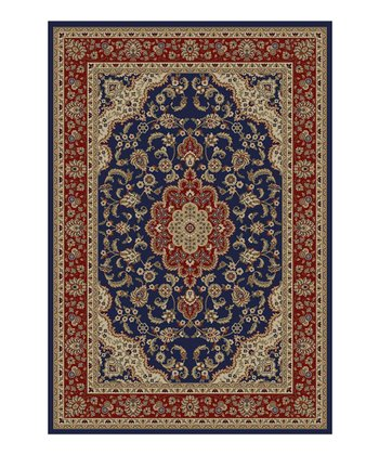 Navy Medallion Kashan Rug