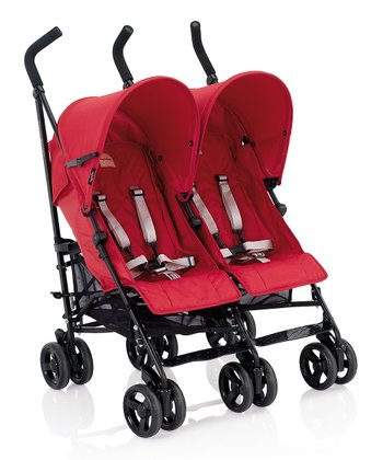 Red Swift Double Stroller
