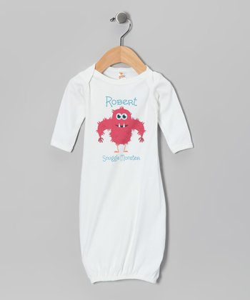 White Hairy 'Snuggle Monster' Personalized Gown