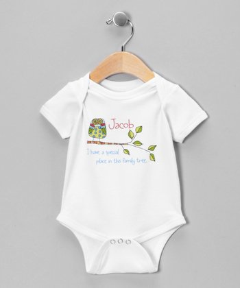 White 'Family Tree' Personalized Bodysuit - Infant