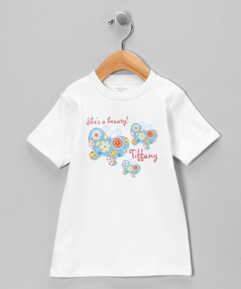 White 'Beauty' Personalized Short-Sleeve Tee - Toddler