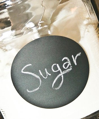 Circle Chalkboard Label - Set of 15
