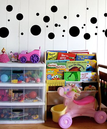 Black Polka Dot Wall Decal Set
