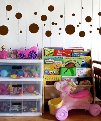 Brown Polka Dot Wall Decal Set