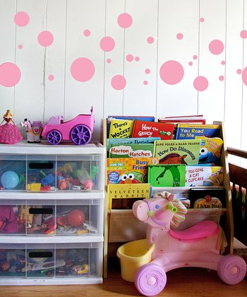 Bubble Gum Pink Polka Dot Wall Decal Set