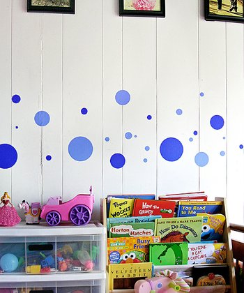 Bright Blue Polka Dot Wall Decal Set
