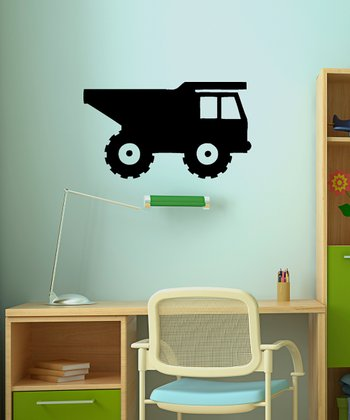 Black Rolling Dump Truck Wall Decal