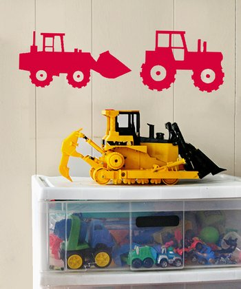 Red Tractor Crew Wall Decal Set