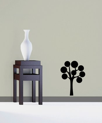 Black Abundant Bubble Tree Decal