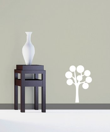 White Abundant Bubble Tree Decal