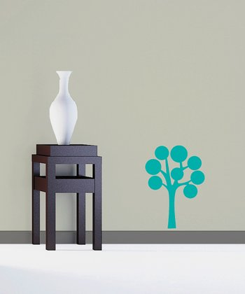 Turquoise Abundant Bubble Tree Decal