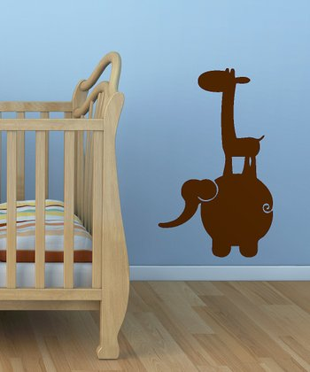 Brown Jungle Buddies Wall Decal