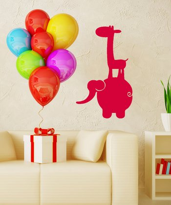 Red Jungle Buddies Wall Decal