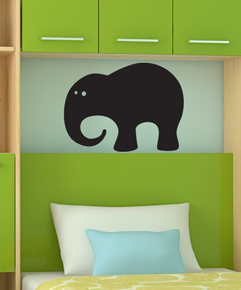 Black Elephant Chalkboard Wall Decal