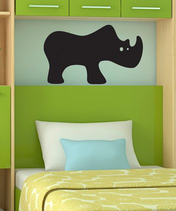 Rhino Chalkboard Wall Decal