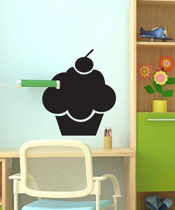 Black Cupcake Chalkboard Wall Decal