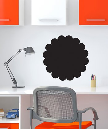 Scallop Circle Chalkboard Wall Decal