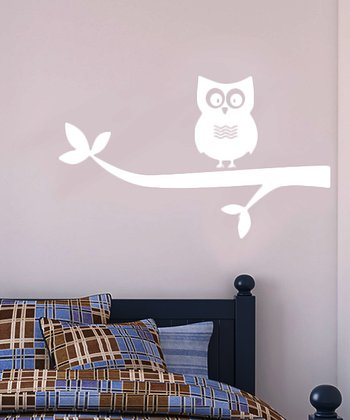 White Look Out Wall Decal Set