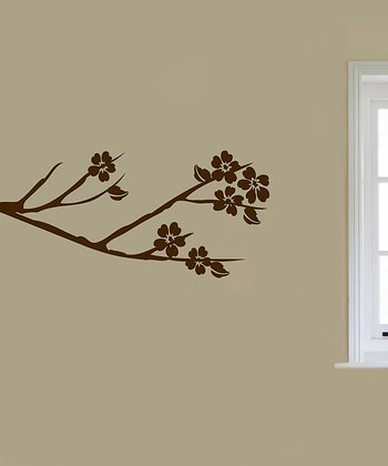 Brown Blooming Bough Wall Decal