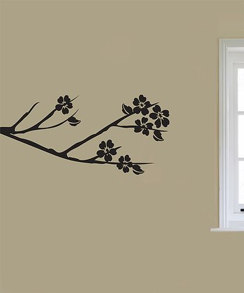 Black Blooming Bough Wall Decal