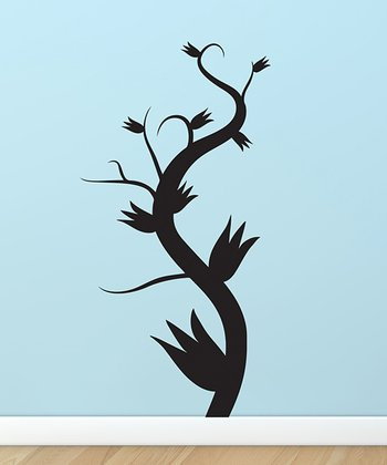 Black Twisting Spring Vine Decal