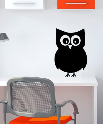 Owl Chalkboard Wall Decal