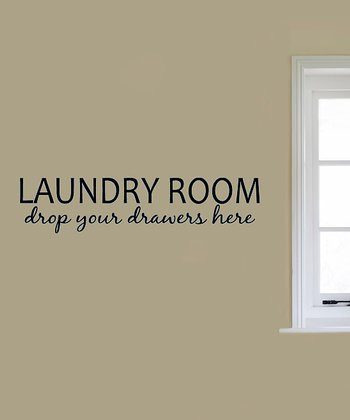 Black 'Laundry Room' Wall Decal