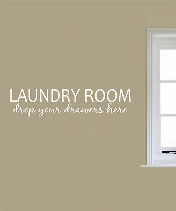 White 'Laundry Room' Wall Decal