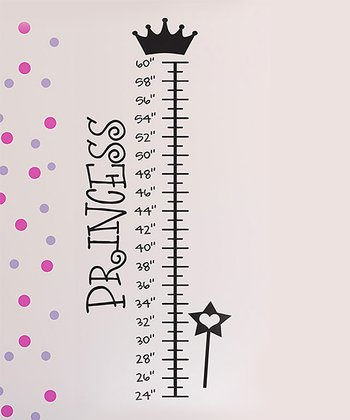 Black 'Princess' Growth Chart Wall Decal