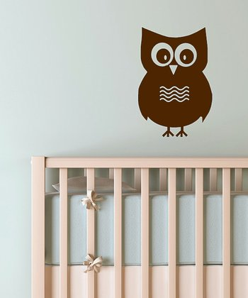 Brown Mr. Owl Wall Decal
