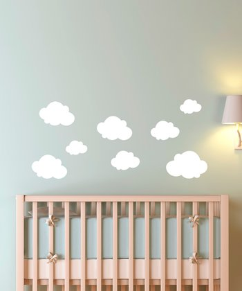 White Cloudy Sky Wall Decal Set
