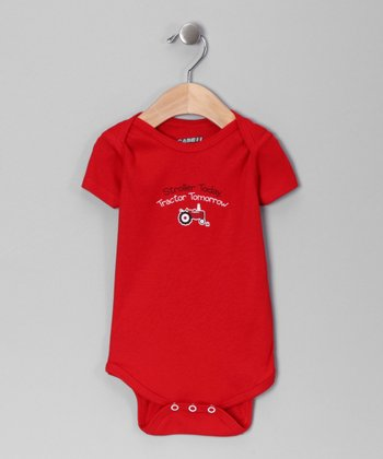 Red 'Stroller Today' Bodysuit - Infant