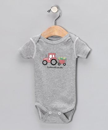 Athletic Heather 'Produced Locally' Bodysuit - Infant