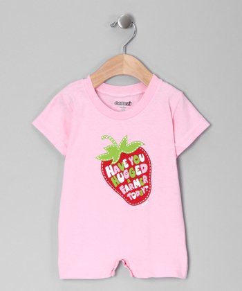 Pink 'Have You Hugged a Farmer Today?' Romper - Infant