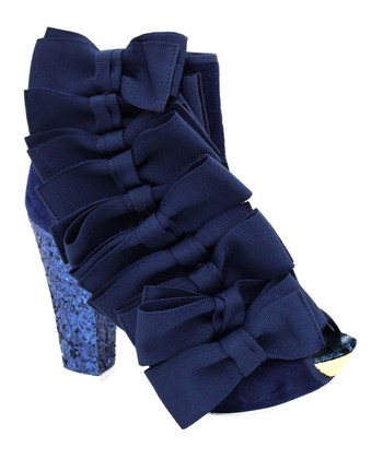 Navy Beaujoe Bootie