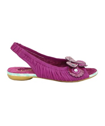 Dark Pink Love Birds Slingback