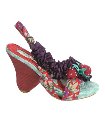 Gray & Purple Raspberry Ripples Slingback