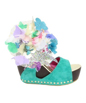 Mint Susie Spruce Wedge Sandal